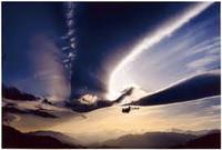 鳳凰のような雲