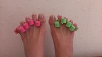 足の指を開く!