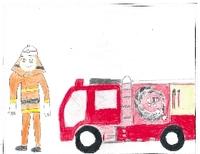 【キッズボンパク】みんなの絵日記~消防士体験~