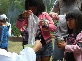 花炭作り&空き缶でご飯炊き体験