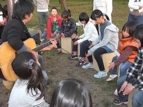 薪ストーブと木の楽器作り体験