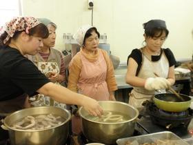 観音池ポーク・ソーセージ作りと蕎麦粉クレープ作り2