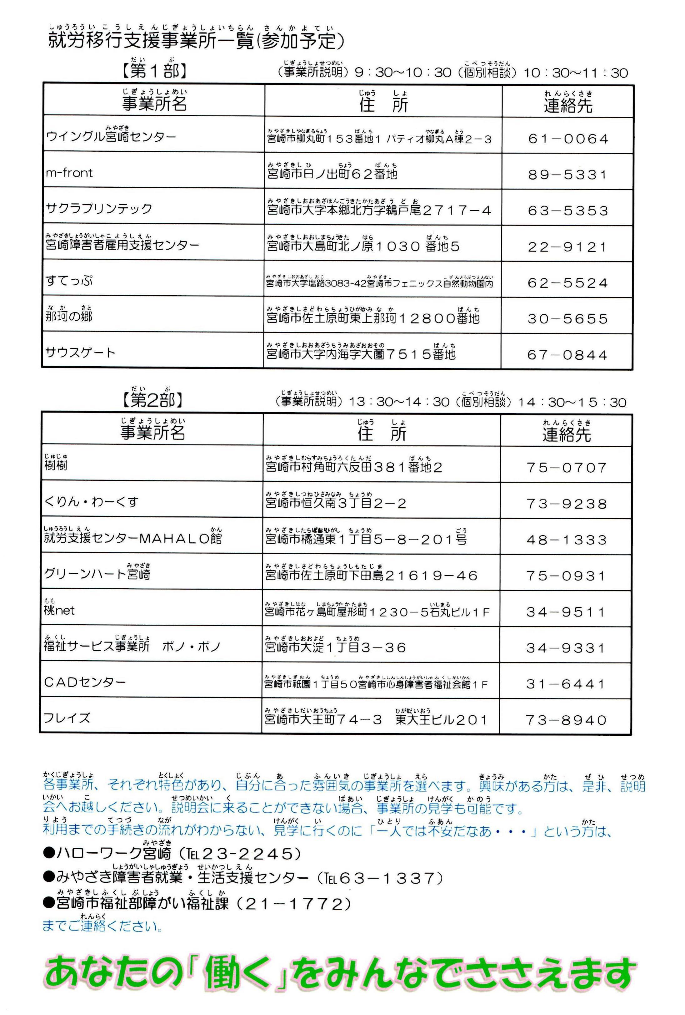 20151027 就労移行支援事業所説明会裏