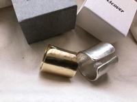真鍮と銀のリング