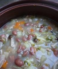 あったか金時豆の野菜雑穀スープ