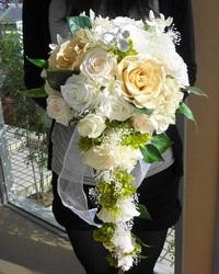 結婚式のキャスケードブーケが完成しました~♪