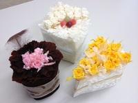 お花のケーキを作りました♪