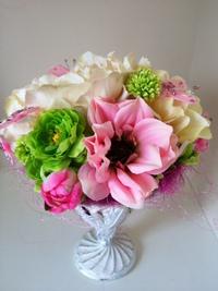 頭を賑わせた花を、花瓶に挿してみました^^♪ Diva