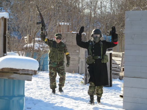雪の戦場 相棒との再開