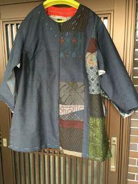 大島紬の羽織物