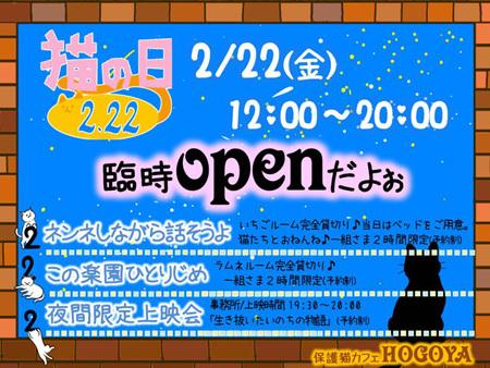 2/22店内イベント開催