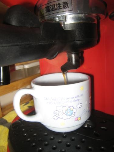 嫁のおもちゃで毎日コーヒー飲んでいます