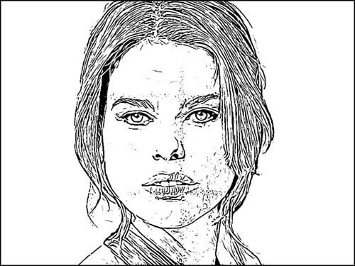 スケッチアーツアクションの「にじみのあるペン画風」。