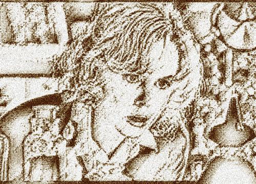 古い小説や物語の挿絵にも見える画像。