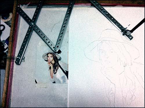 パンタグラフを使って描いてみる。