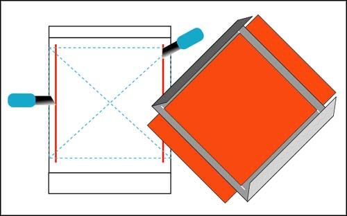 たった1枚の紙から作る、ポラロイド風写真フレーム。