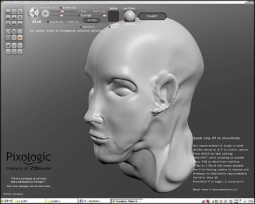 粘土感覚で3Dモデリングが出来る Sculptris