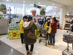 ニラを中心とした試食宣伝販売in姫路