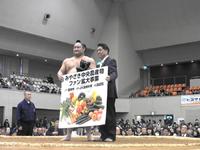 大相撲冬巡業 宮崎場所にて青果物の贈呈を・・・