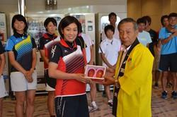 ソフトテニス日本代表チーム強化合宿を表敬及び青果物PR!