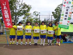 第4回みやざきサッカーPK選手権大会でのPR