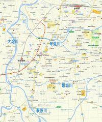 <休憩一服> 都城の「幕末の道」を今の地図に落してみた