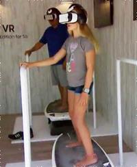 サーフィンを3Dで疑似体験できるマシン