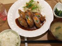 豚の野菜肉巻きフライ 日替わりランチ カフェふろーと