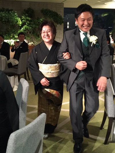 義弟さんが結婚しました