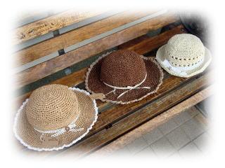 +++ラフィアの帽子+++