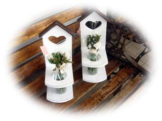 +++木工 おうち型花瓶立て+++