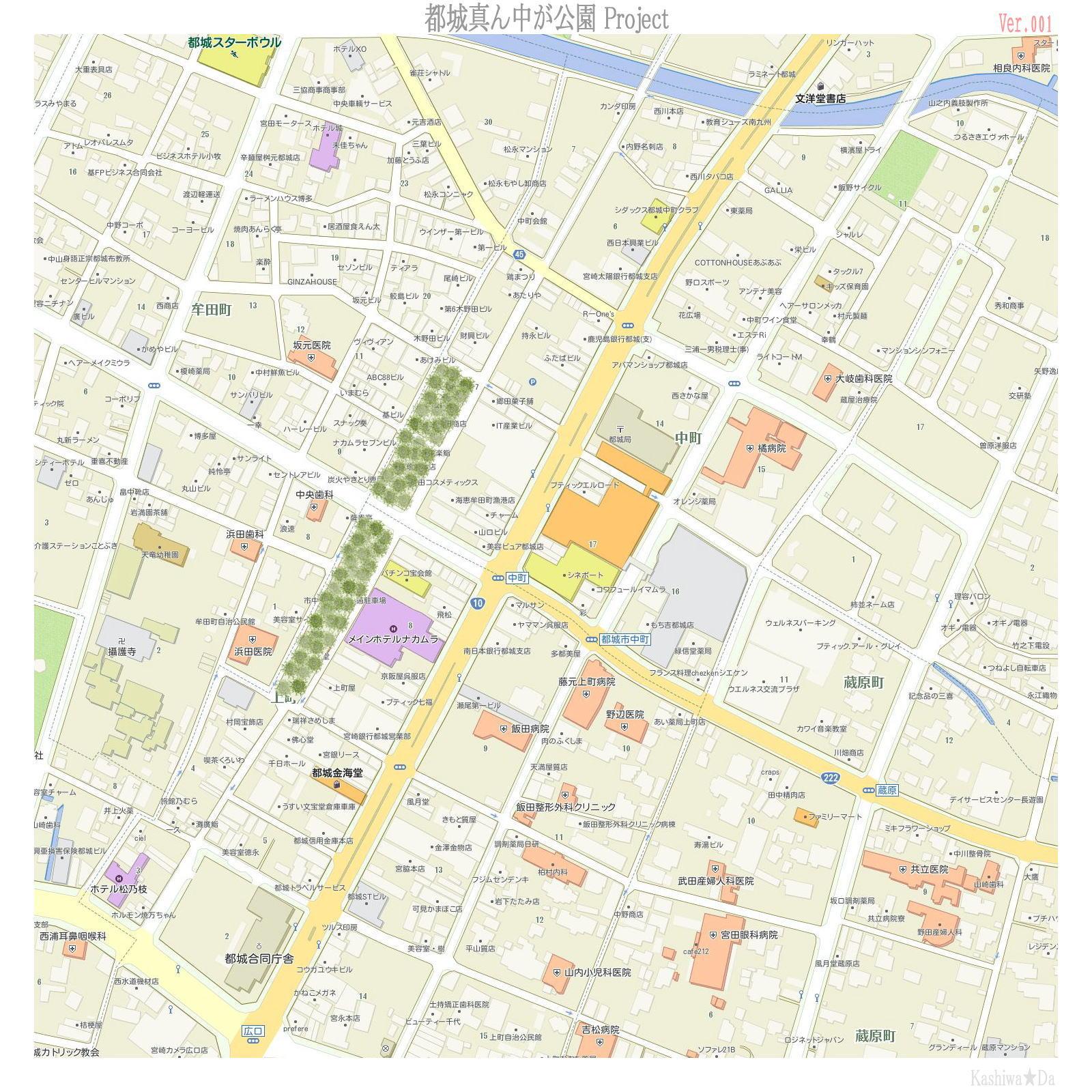 4-3[仮想プラン] 街真ん中に「竹林広場」を埋込む
