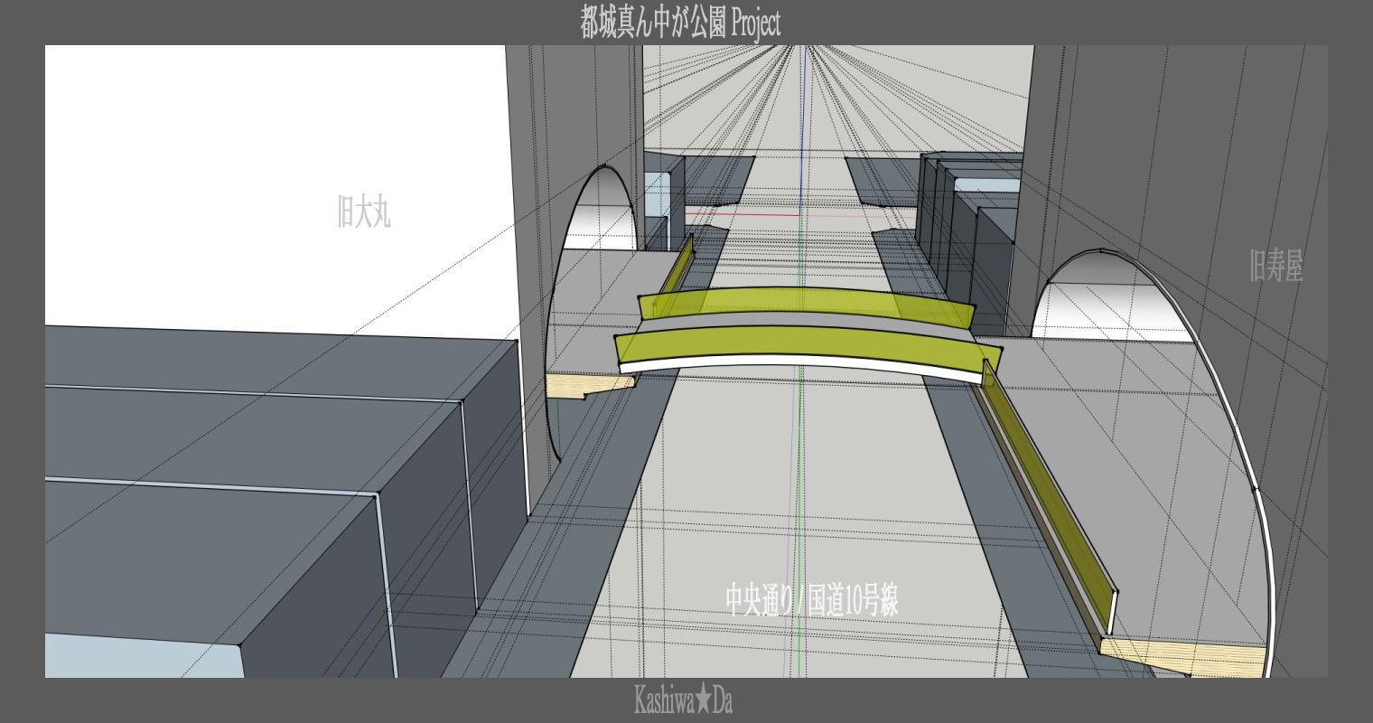 4-4[仮想プラン] 旧大丸・寿屋に「食のホール」を埋込む