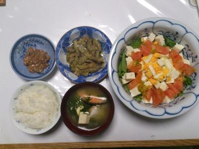 野菜たっぷり夕食