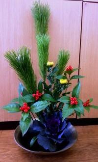 お正月花を飾りました!