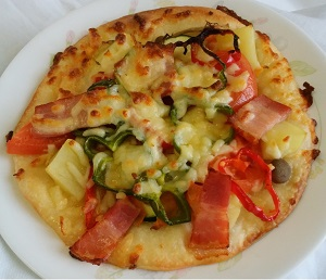 #野菜たっぷりピザ