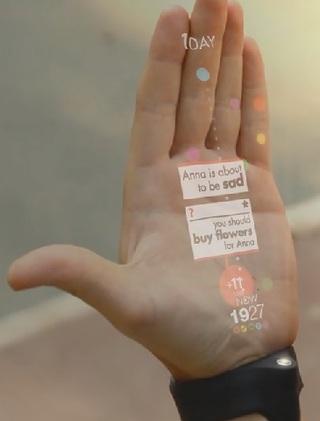 手のひらがディスプレイに。近い未来に実現しそうな「装着型プロジェクター」