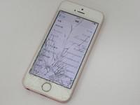 SoftBank☆iPhone SE 16GB★MLXN2J/A☆ガラス割れ★ローズゴールド☆買い取りました♪