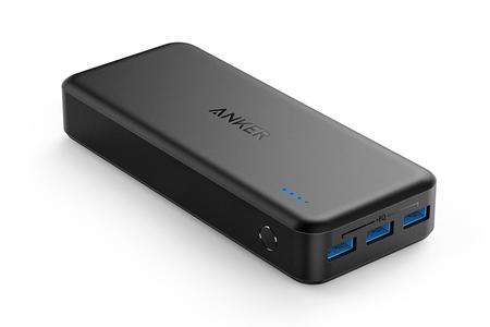 Anker、3台同時に急速充電できる2万mAhバッテリー