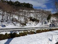 雪・雪・雪の「道の駅 宇目」