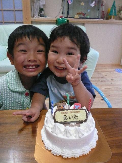 えいた3歳の誕生日