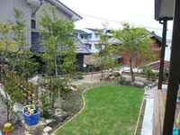 我が家の庭。