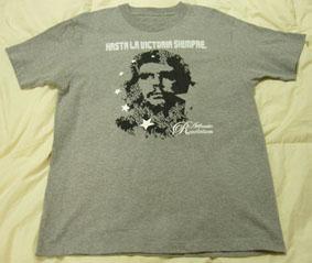 キューバ革命50周年ハリケーン被害復興支援Tシャツ販売