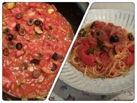 トマト&アンチョビのパスタ*