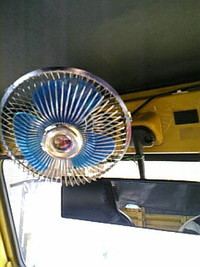車用 扇風機   装着!