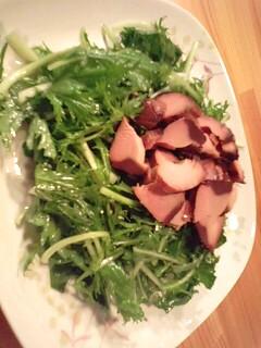 ★水菜と生節のサラダ★