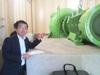 小水力発電所施設の視察 その2