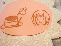 ホットケーキと女の子はんこ♪