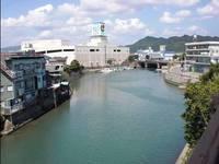 寅さん映画のロケ地、堀川運河(日南市油津)