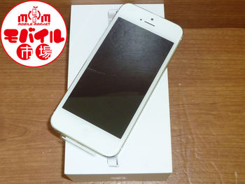 モバイル市場☆新品未使用★au☆iPhone5 64GB★格安白ロム☆入荷!